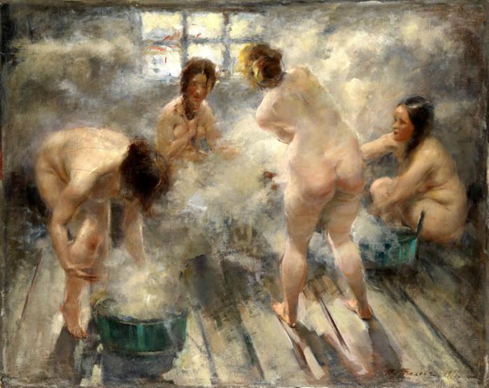 женщины в русской бане (700x554, 694Kb)