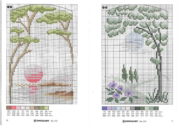 Схемы вышивки крестом миниатюры природа 20