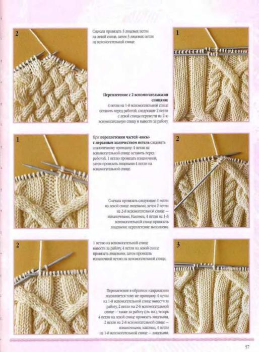 Схема вязания переплетений 26