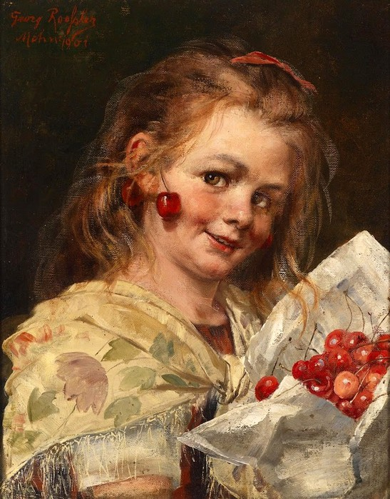 Georg RoesslerGirl with Cherries,1901 (547x700, 137Kb)