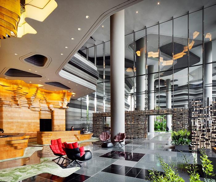 отель  Parkroyal Сингапур 6 (700x592, 273Kb)