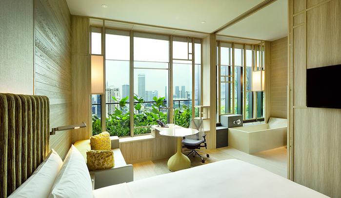 отель  Parkroyal Сингапур 13 (700x406, 149Kb)