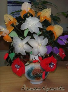 цветы из капрона (21) (224x300, 23Kb)