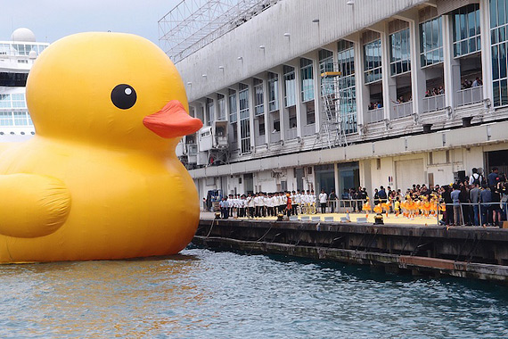 гигансткий желтый утенок Rubber Duck 5 (570x380, 108Kb)
