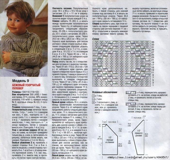 Вязаные свитера для мальчиков схемы и описание7