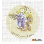 Превью Calendar 2005 Margaret Sherrys Little Kate April Chart (700x697, 425Kb)