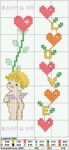 Схемы детской вышивки крестиком. Ангелочки (13) (237x512, 38Kb)