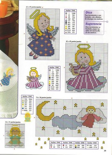 Схемы детской вышивки крестиком. Ангелочки (32) (372x512, 60Kb)