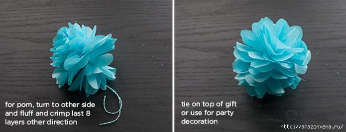 Цветы из папиросной бумаги для украшения подарков (5) (695x265, 102Kb)