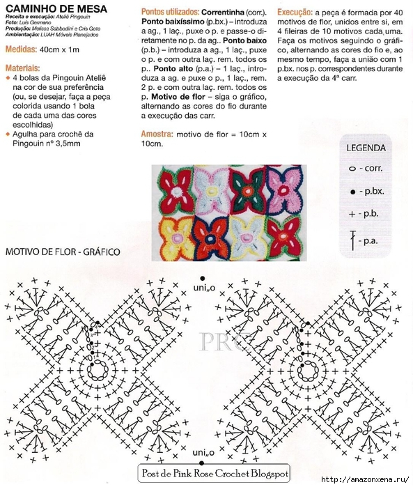 Вязание крючком. Цветочная салфетка (2) (593x700, 343Kb)