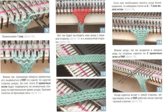 Модели с описаниями для вязания на однофонтурной