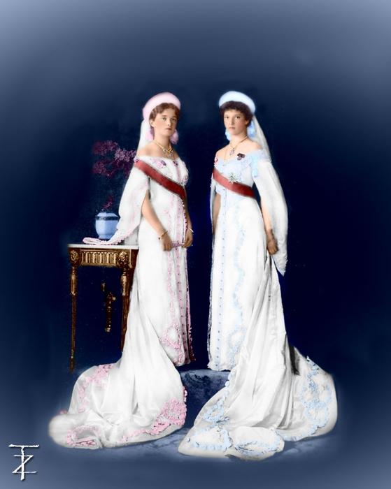 Великая Княжна Ольга Николаевна и Великая Княжна Татьяна Николаевна (559x700, 175Kb)
