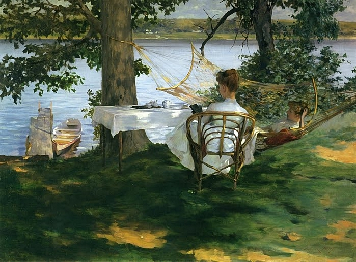 Irwing R. Wiles - Afternoon Tea on the Terrace (700x516, 291Kb)