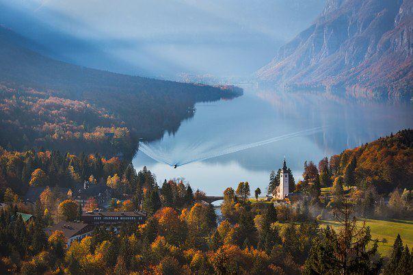 Бохинское озеро, Словения (604x402, 49Kb)