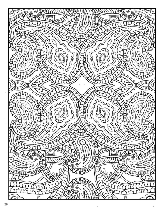 Paisley free colouring pages for Paisley designs coloring pages