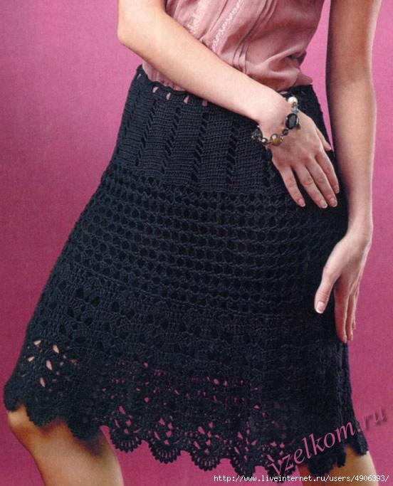 Вязанные юбки крючком схемы и