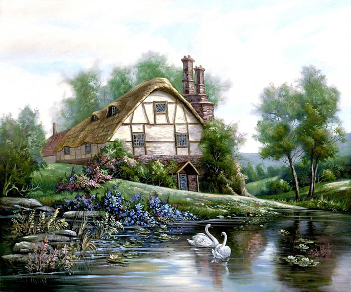 ...где счастлив буду, Где любовью окружен, будет каждый всюду, Рядом с домом посажу Древо Родовое, Чтоб питалось от...