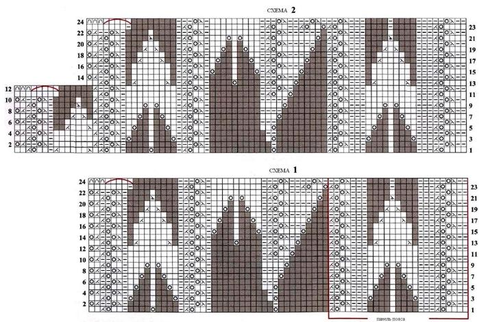 Ажурные узоры на летнем пальто спицами (2) (700x471, 264Kb)