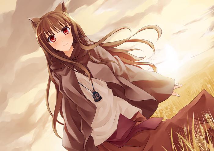 Аниме,Anime,аниме,поле,песочница,песочница волчица и пряности,волчица и пря
