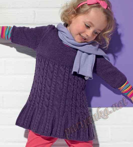 пуловер для девочки (530x587, 37Kb)
