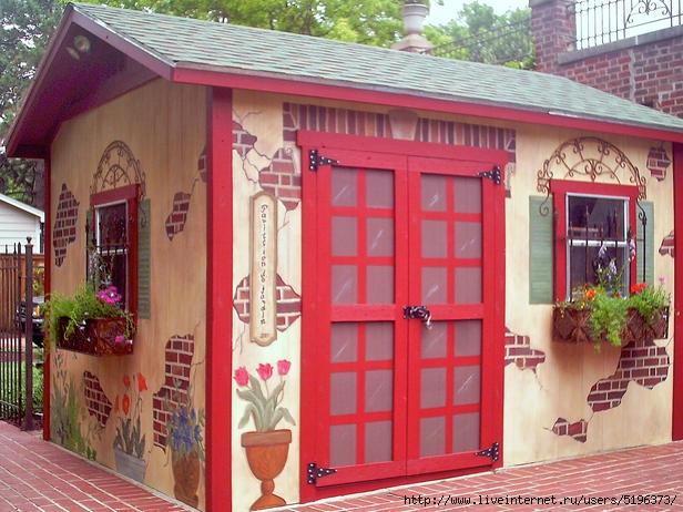 Как украсить домик своими руками фото