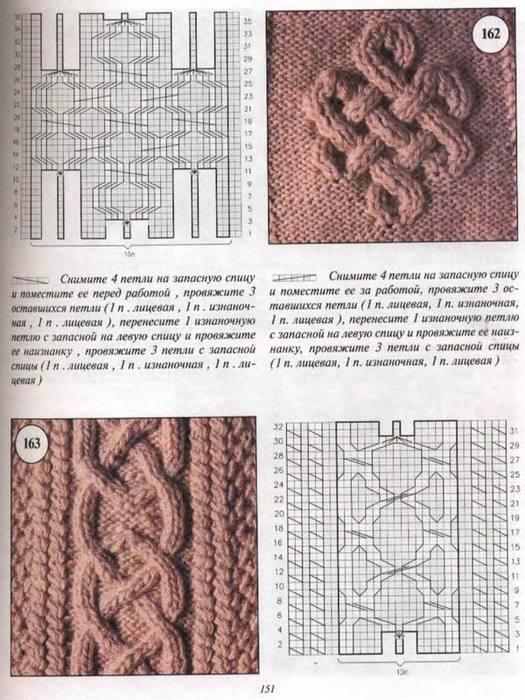 Схемы узоров 10 (Араны, косы) .