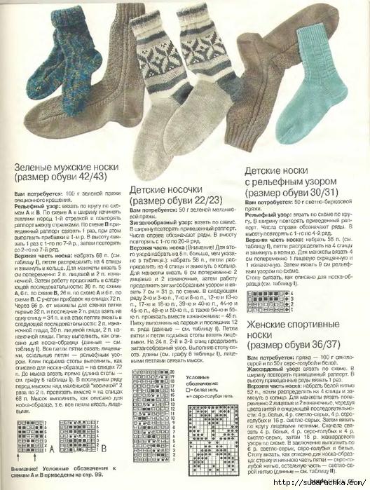 Вязание носков просто и бы