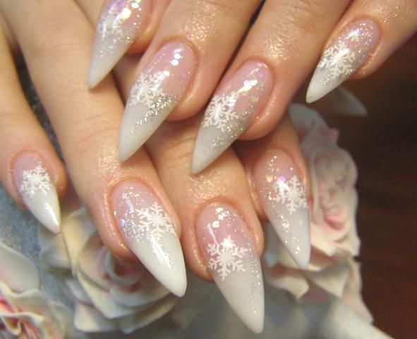 Наращивание ногти новый год