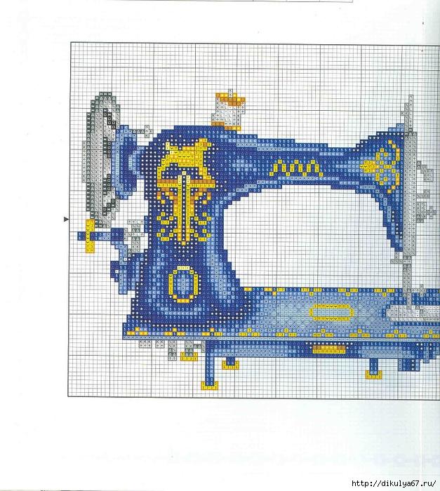 свой цитатник или сообщество!  Схемы вышивки на швейную тему: ножницы, швейные машинки, наперстки, платья.