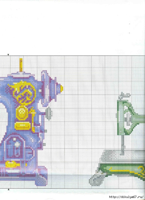 Вот такую очаровательную вышивку советую вышить рукодельницам.  Просто чудесные схемки на швейно-портняжную тему.