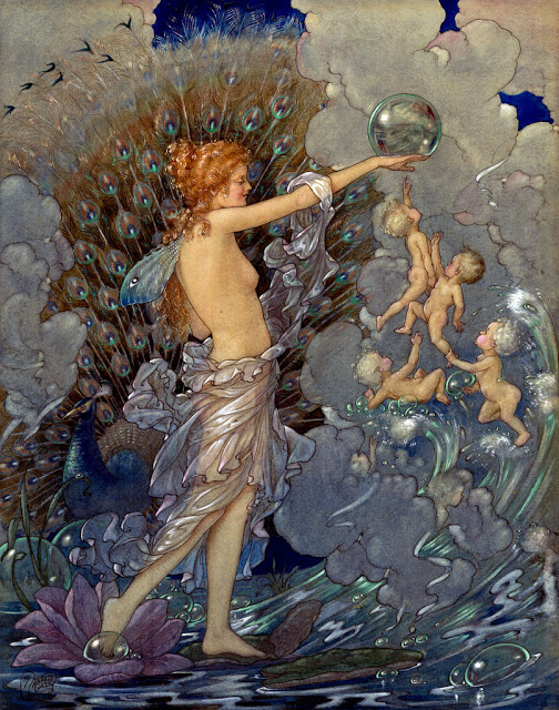 Harold.Gaze.Woman.Shore.Cherubs.Bubbles. (504x640, 181Kb)