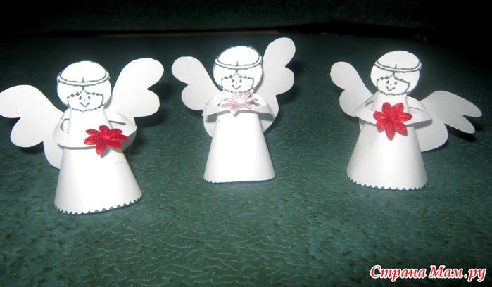 Ангел из бумаги шаблон своими руками