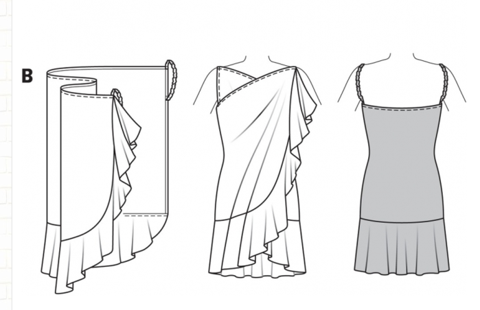 Вечернее платье своими руками без выкройки видео