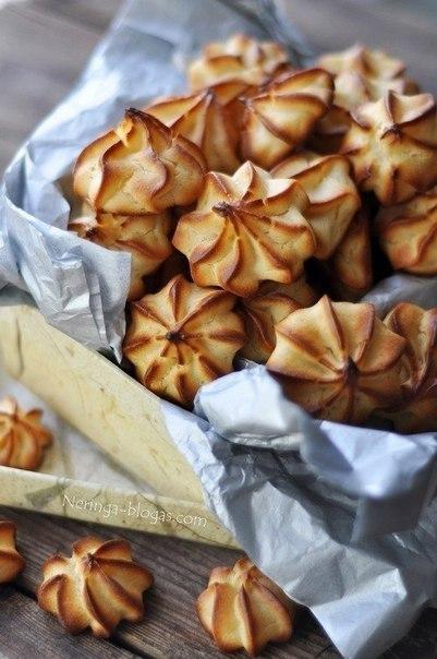 Печенье из заварного теста рецепт с фото