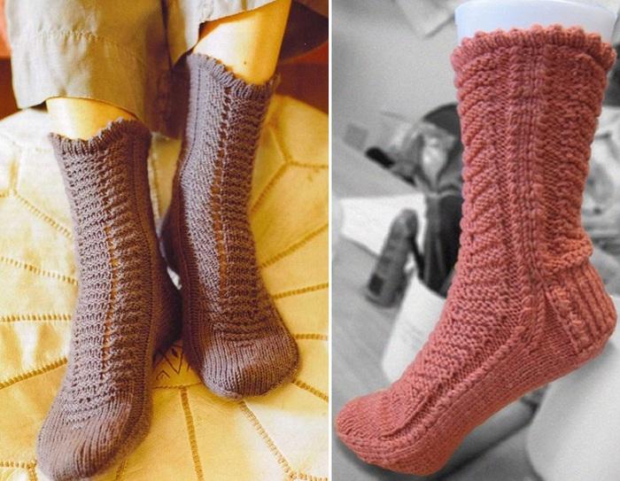 Вяжем носки онлайн