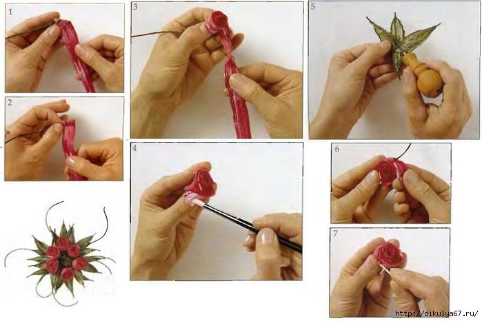 Как сделать маленькую розу