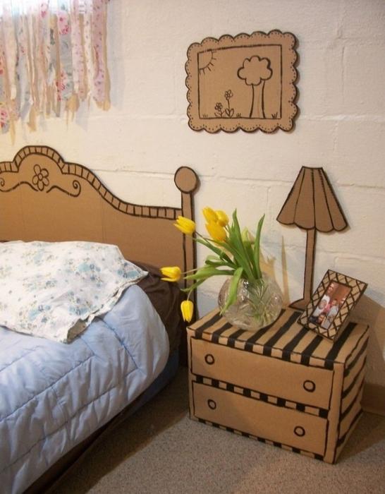 Мебель из картона в интерьере вашего дома 9 (546x700, 245Kb)