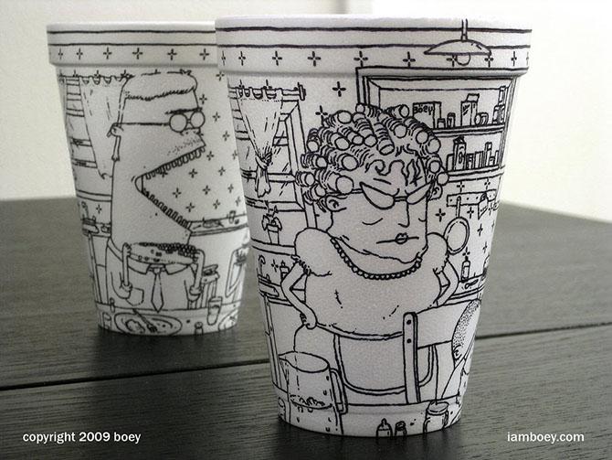 Cheeming Boey рисунки на одноразовых стаканчиках 15 (670x503, 113Kb)