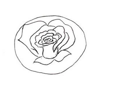 Как нарисовать розу (6) (389x345, 21Kb)