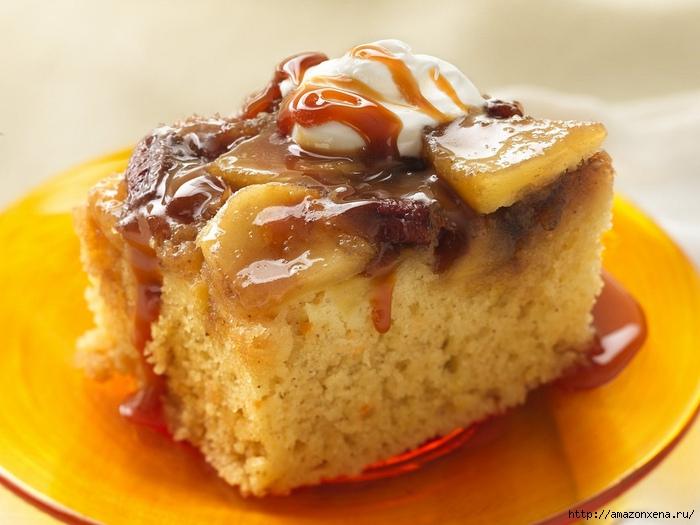 Очень вкусный Теплый Карамельный Яблочный пирог (700x525, 220Kb)