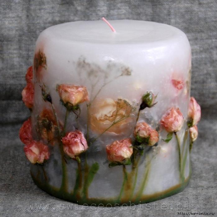 цветочные свечи ручной работы (6) (698x700, 310Kb)