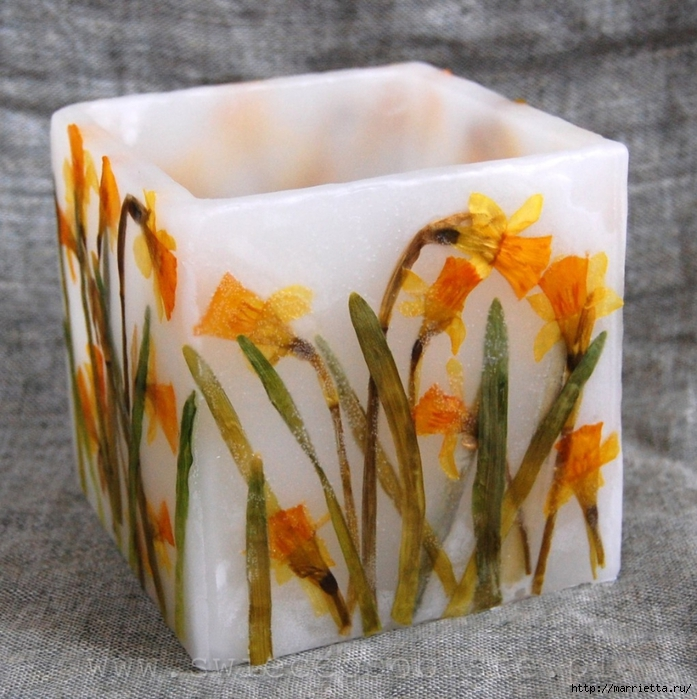 цветочные свечи ручной работы (44) (697x700, 353Kb)