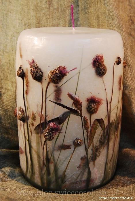 цветочные свечи ручной работы (53) (469x700, 260Kb)