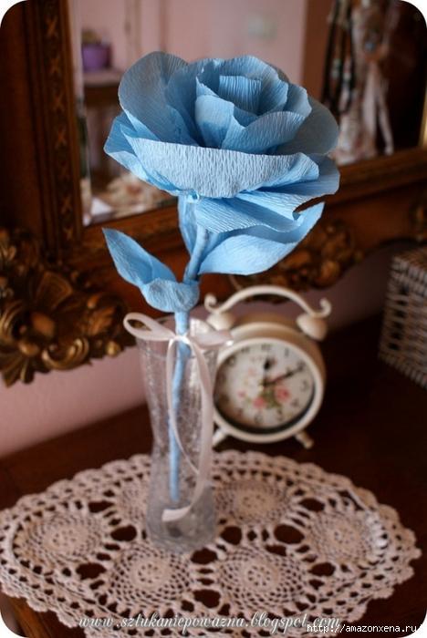 Розы из гофрированной бумаги. Фото мастер-класс (2) (468x700, 230Kb)