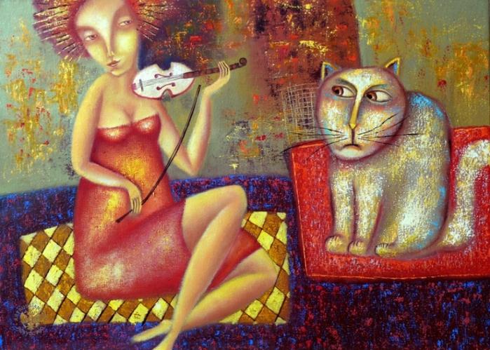 Мелодия для кошки (700x499, 329Kb)