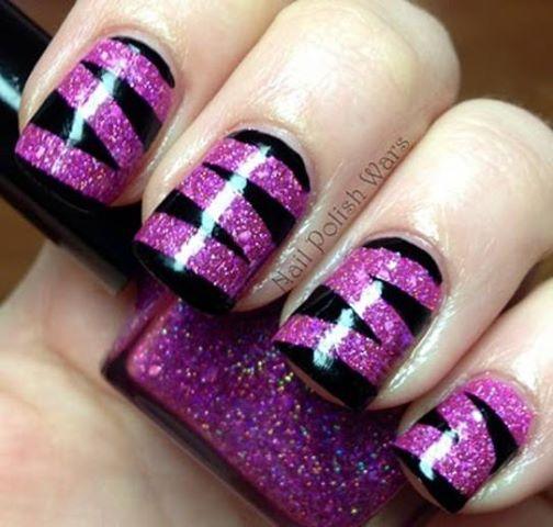 Нарощенные ногти с черным фото дизайн