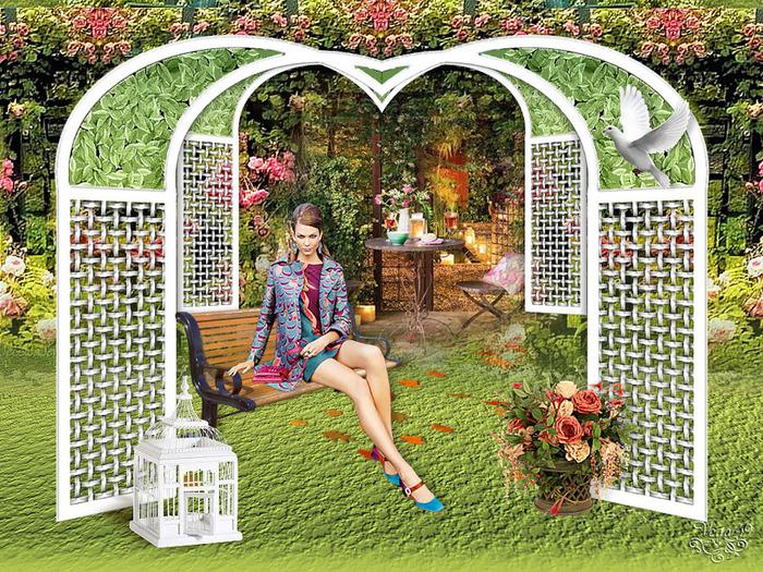 коллаж En el jardin de mis amores (700x525, 299Kb)