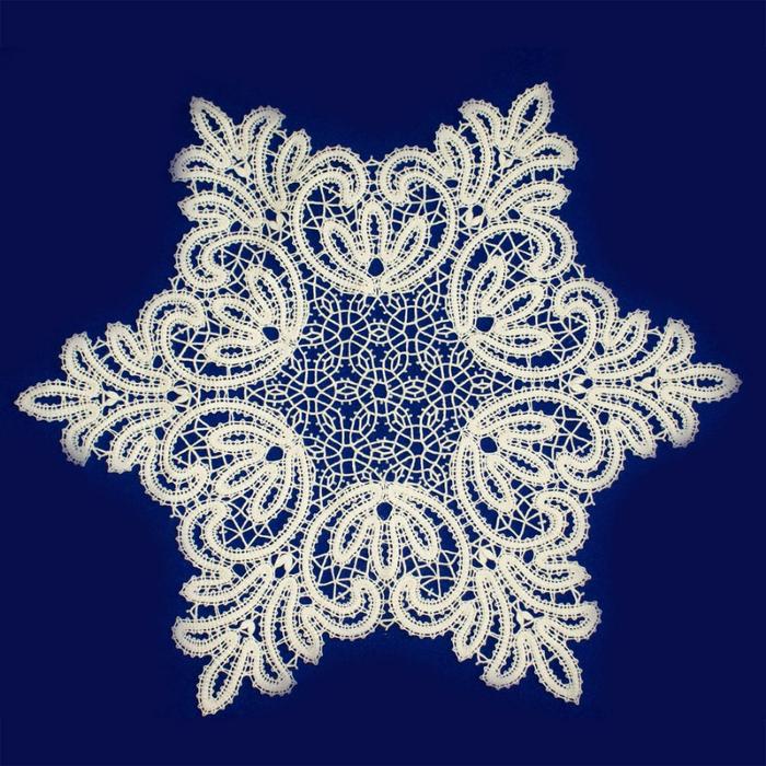 Кружево снежинка