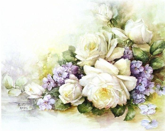 Картинки для декупажа цветы распечатать 1
