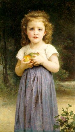 bougeureau-littlegirlholdingapples (261x460, 36Kb)